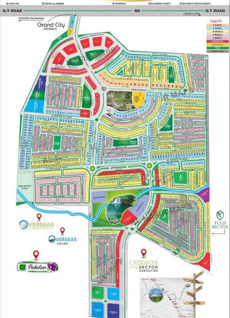 GRAND CITY KHARIAN LOCATION MAP