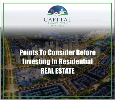 Points to Consider before Investing in Residential Real Estate
