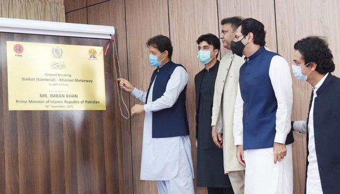 PM Imran performs groundbreaking of Sialkot-Kharian motorway project