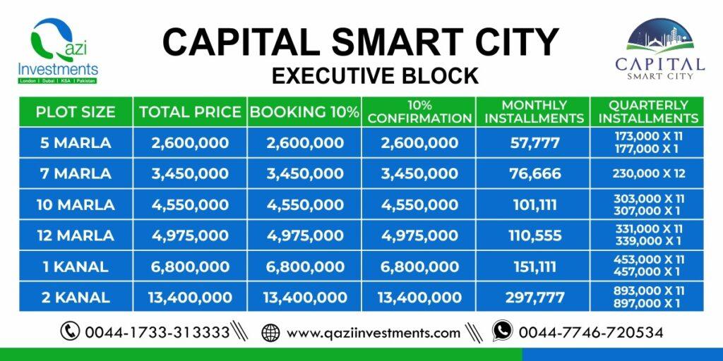 capital-smart-city-Executive-Payment Plan